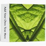 Green Leafy Digital Art. 3 Ring Binder