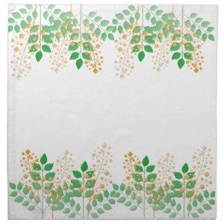 Green Leafy Gold Floral mojo_napkin