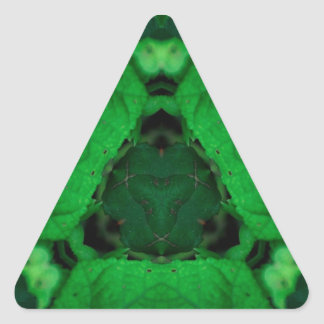 Green Leak Nature Triangle Design Triangle Sticker