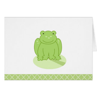 Green Leap Frog Customized Note Card