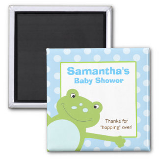 Green Leap Frog Favor Magnet (Blue/Green)