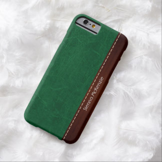 Green Leather look Barely There iPhone 6 Case