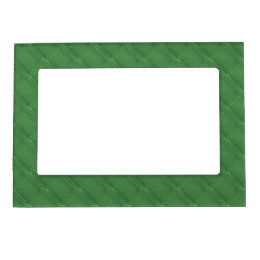 Green Leather Look Borders Magnetic Frame