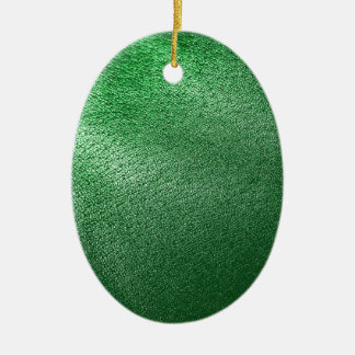 Green Leather Look Ceramic Ornament