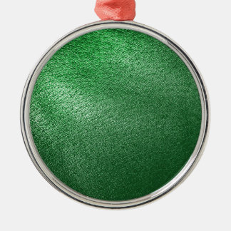 Green Leather Look Metal Ornament