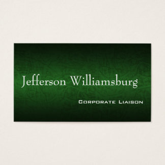Green Leather Standard Business Cards