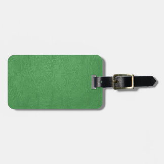 green leather texture bag tag
