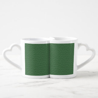 Green Leather Texture Lovers Mug