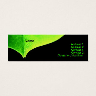 Green Leave Business Card