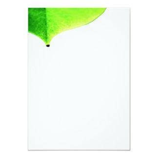 Green Leave Invitation