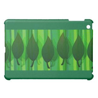Green Leave & Stripes iPad Mini Cover