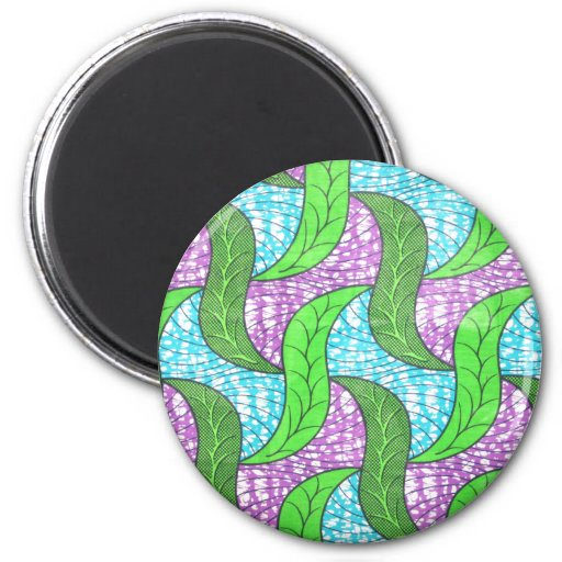 Green Leaves 2 Inch Round Magnet