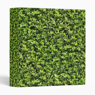 Green Leaves 3 Ring Binder