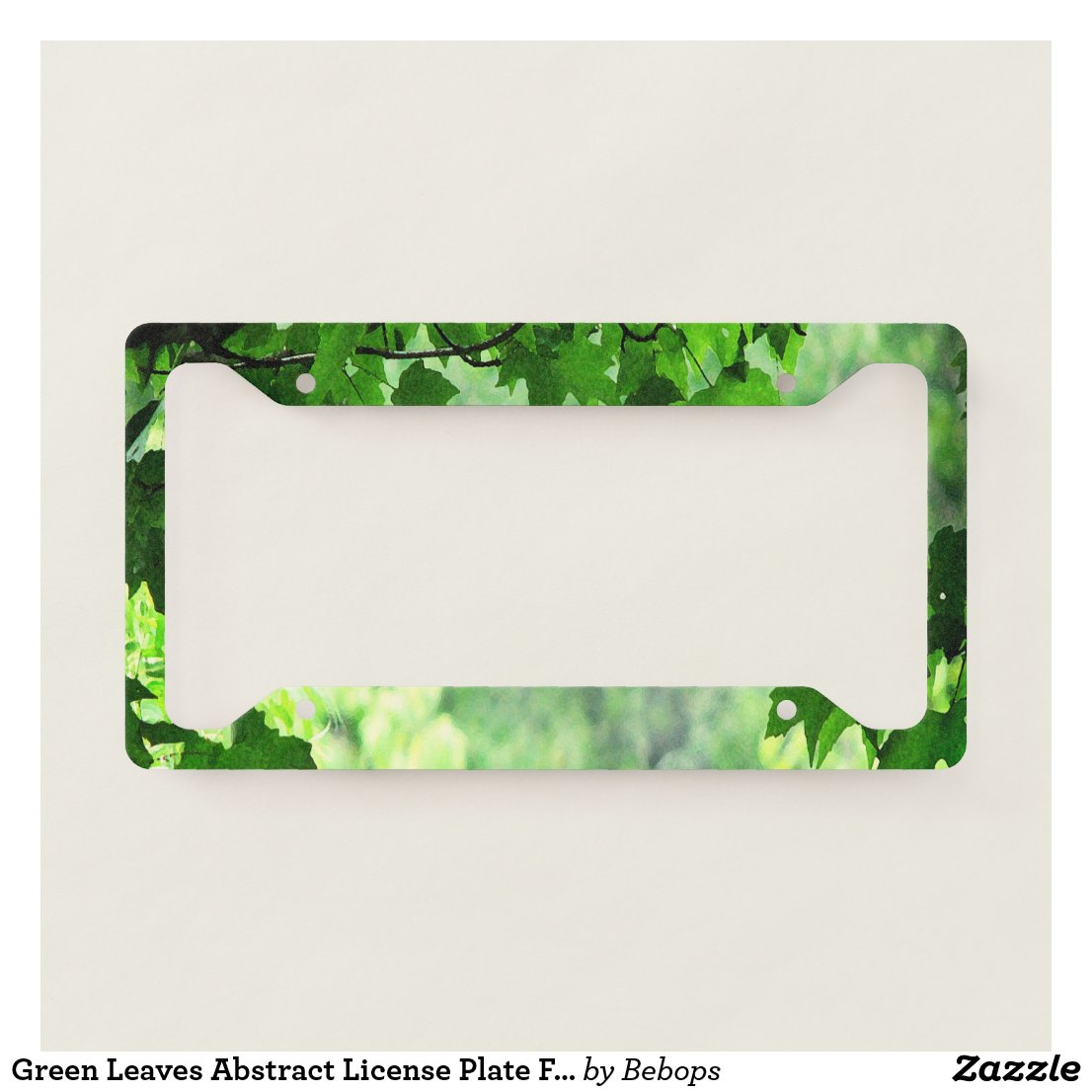 Green Leaves Abstract License Plate Frame