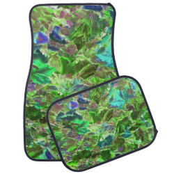 Green Leaves Abstract Pattern Car Mat