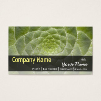 Green Leaves Aeonium Tabuliforme Business Template Business Card