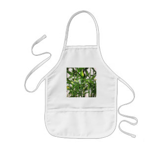 Green leaves and bamboo shoots house plant kids' apron