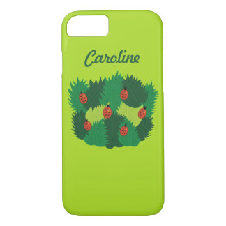 Green Leaves And Ladybugs Spring Time Custom Name iPhone 7 Case