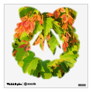 Green Leaves and pink seeds reef Wall Decal
