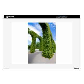 Green leaves arches laptop decals