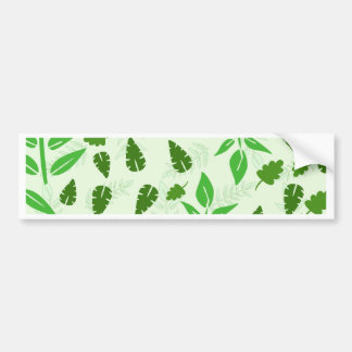 green leaves background bumper sticker