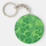 Green Leaves Background Key Chain