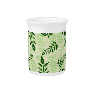 green leaves background pitcher