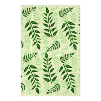 green leaves background stationery