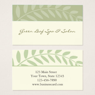 Green Leaves, Branch Border Business Card