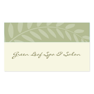 Green Leaves, Branch Border Business Card Template