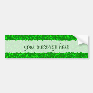 green leaves bumper sticker