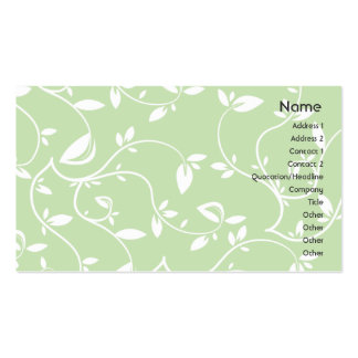 Green Leaves - Business Double-Sided Standard Business Cards (Pack Of 100)