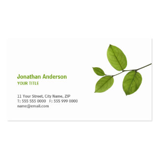 Green Leaves business card