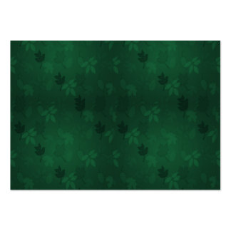 Green Leaves Large Business Cards (Pack Of 100)