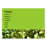 green leaves business card template