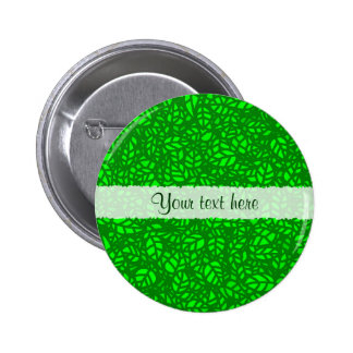 green leaves button