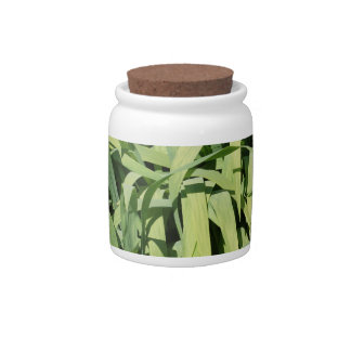 Green Leaves Candy Jars