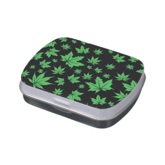 Green Leaves Candy Tin