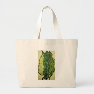 green leaves canvas bags