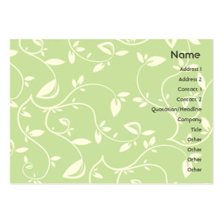 Green Leaves - Chubby Large Business Cards (Pack Of 100)