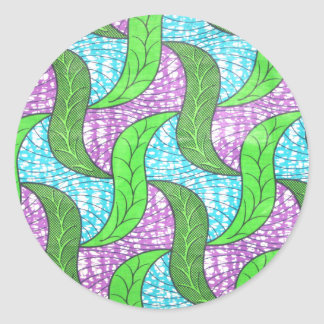 Green Leaves Classic Round Sticker