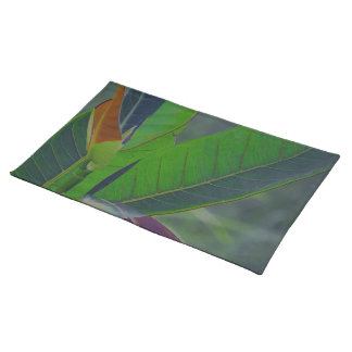 Green Leaves Close-Up Cloth Placemat