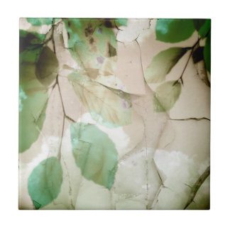 Green Leaves Crackle Tile