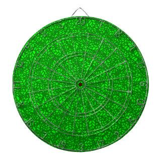green leaves dart board