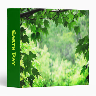 Green Leaves Earth Day 3 Ring Binder
