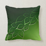 "green leaves elegant modern throw pillow<br><div class=""desc"">green leaves decorative pillow</div>"