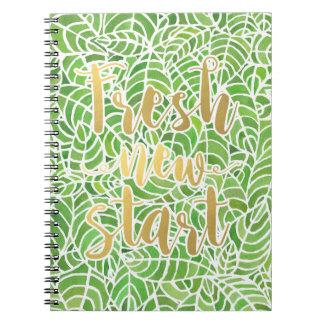 Green Leaves Fresh New Start Notebook
