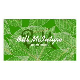 Green leaves garden landscape Double-Sided standard business cards (Pack of 100)