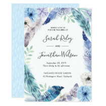 Green leaves gold Terrarium Wedding invitation