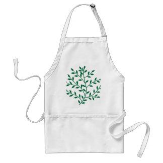 Green leaves green olive branch leaf decor adult apron